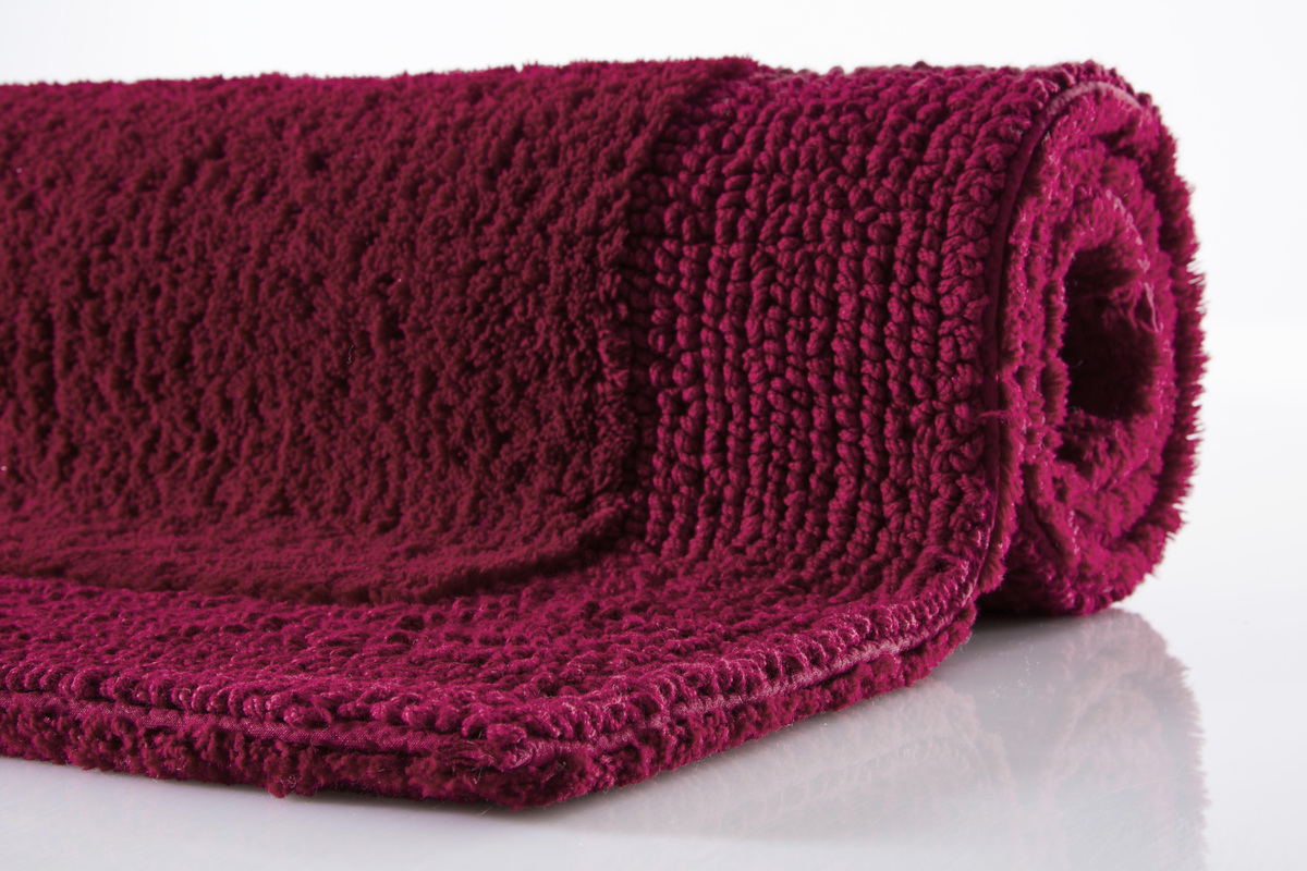 batex badematte duo flor wein rot wende badteppich badteppiche bei tepgo kaufen. Black Bedroom Furniture Sets. Home Design Ideas