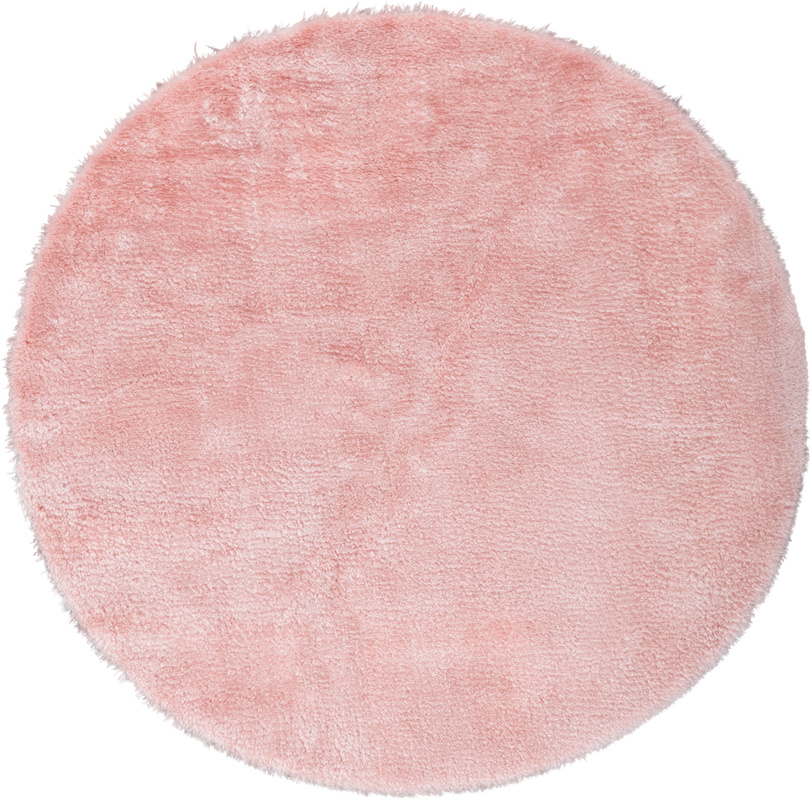 Andiamo Teppich Lambskin Rosa Rund 120 Cm