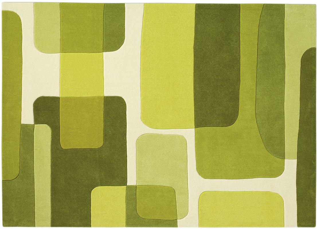 Teppich grün weiß  Arte Espina SPIRIT 135 grün / Designerteppich Teppich bei tepgo ...