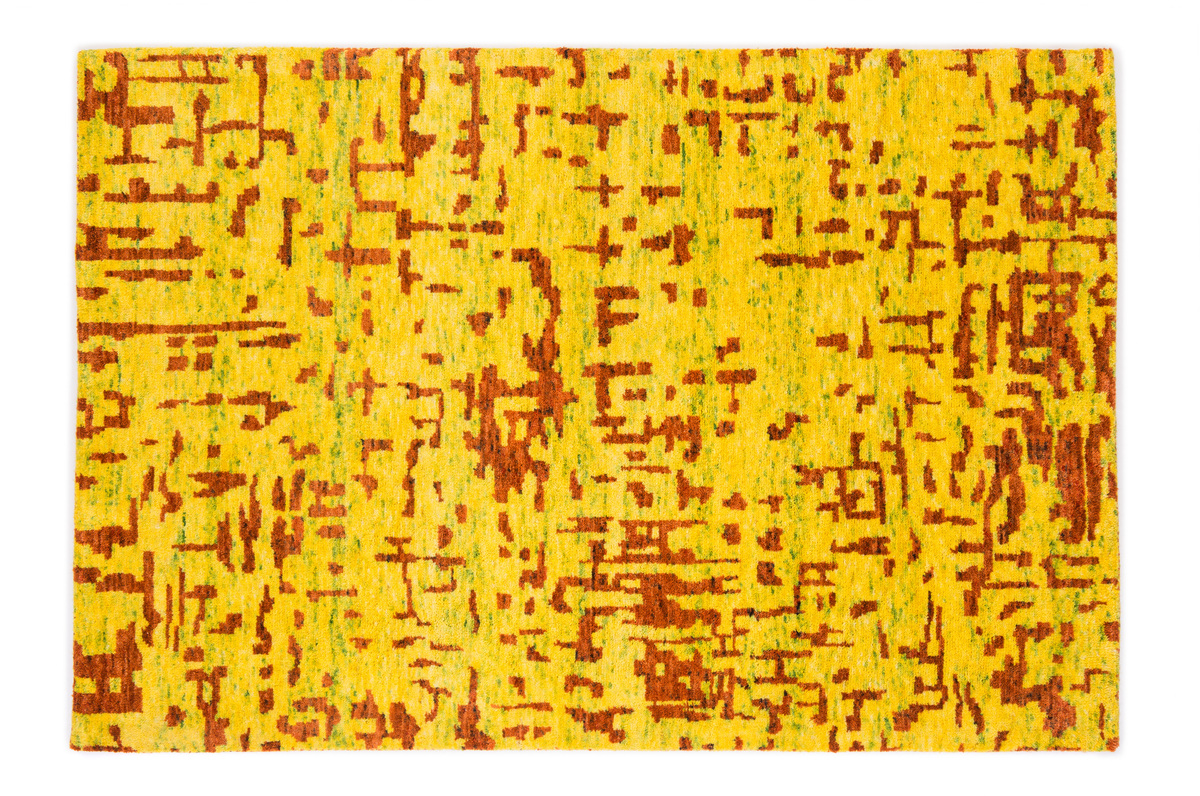 Babaco Creative Art CA1  yellow  Gabbeh Teppich