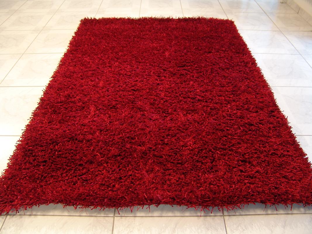calypso rot teppich hochflor teppich bei tepgo kaufen versandkostenfrei. Black Bedroom Furniture Sets. Home Design Ideas