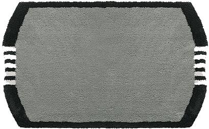 clarissa badematte monza grau dunkel schwarz wei 25 mm florh he ko tex zertifiziert im. Black Bedroom Furniture Sets. Home Design Ideas