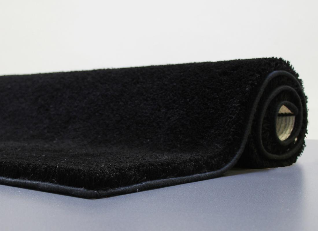 clarissa badematte sylt schwarz 25 mm florh he badteppiche bei tepgo kaufen versandkostenfrei. Black Bedroom Furniture Sets. Home Design Ideas
