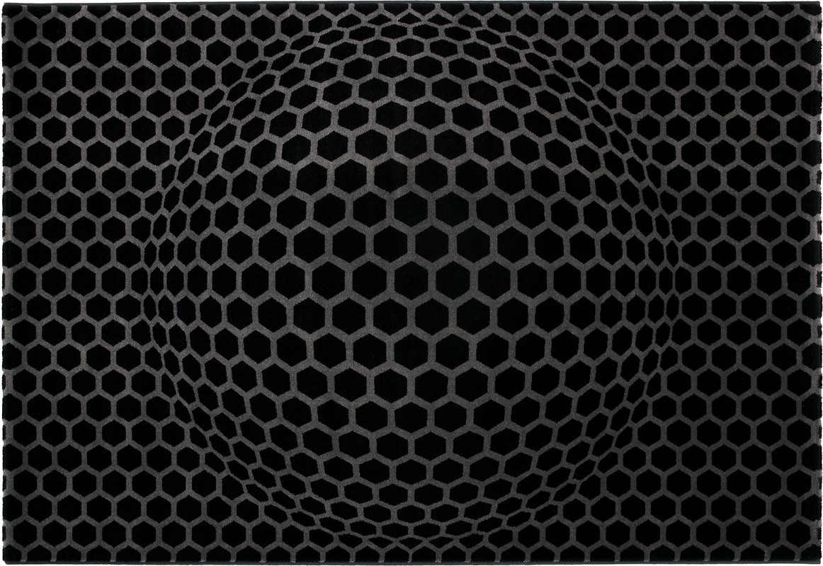 Contzen design honeycomb schwarz teppich bei tepgo kaufen for Finding an architect for a remodel