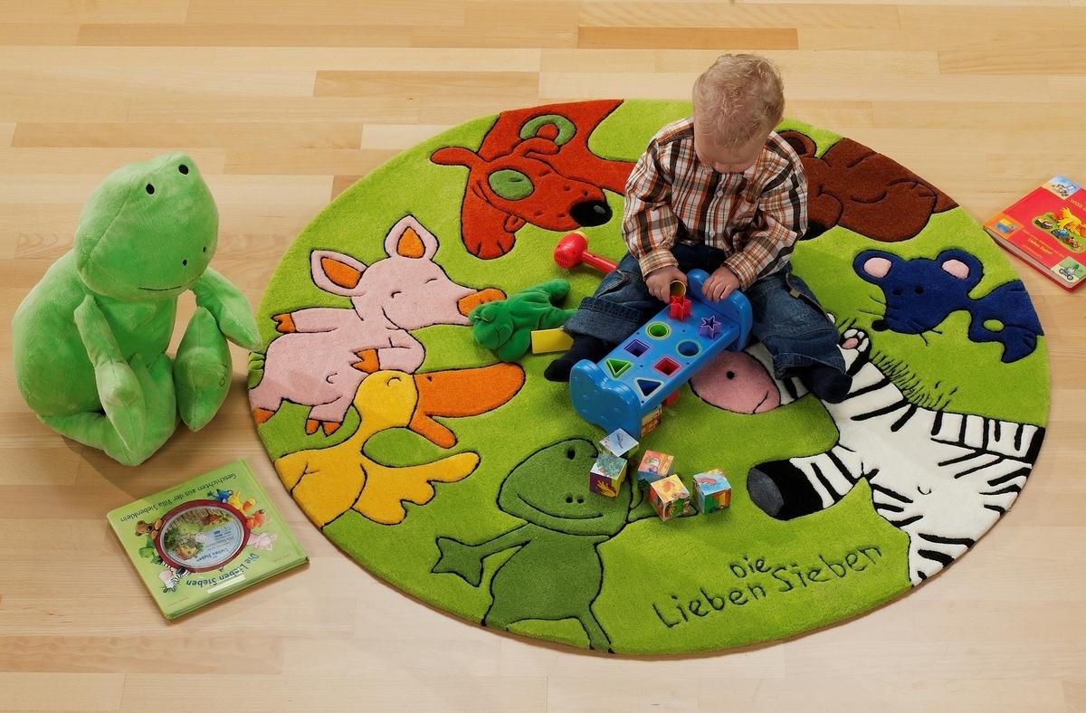 Kinderteppich die lieben sieben  Nauhuri.com | Teppich Kinder Rund ~ Neuesten Design-Kollektionen ...