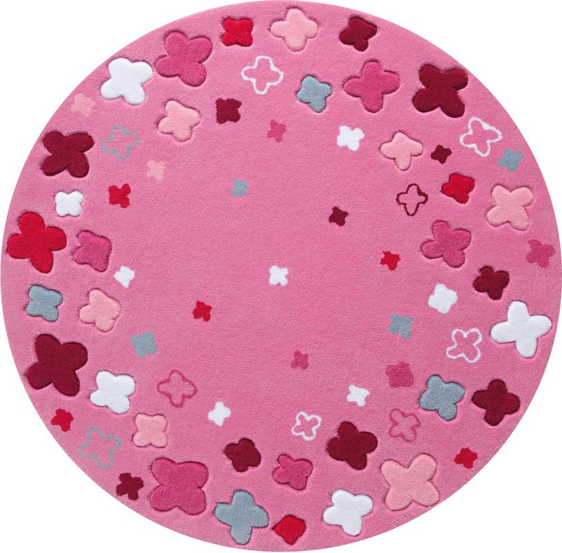 Rosa teppich rund  ESPRIT Kinder-Teppich, Bloom Field ESP-2980-03 rosa/pink, Öko-Tex ...