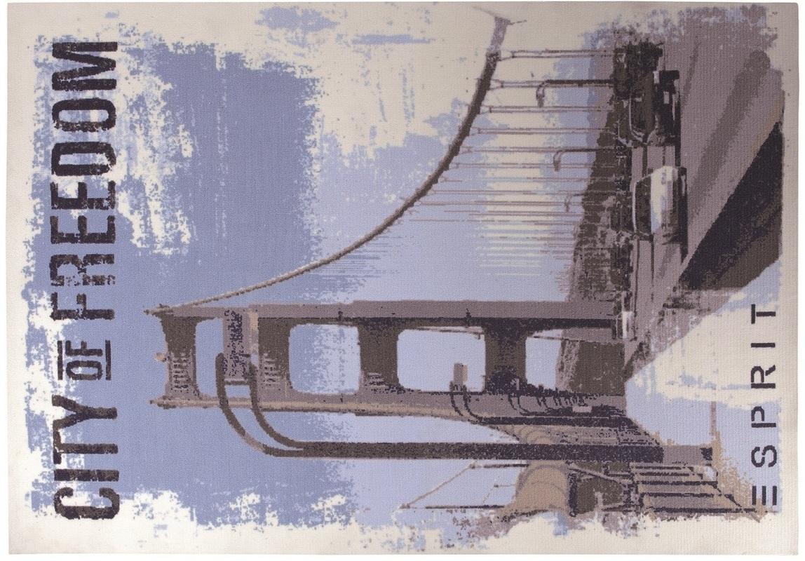 ESPRIT Teppich, City Of Freedom ESP619201 blau Angebote