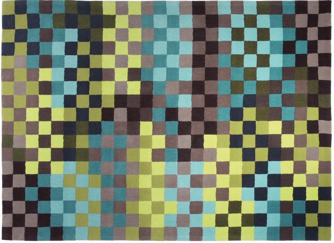 ESPRIT Teppich, Pixel, ESP283403 grün  Designerteppich