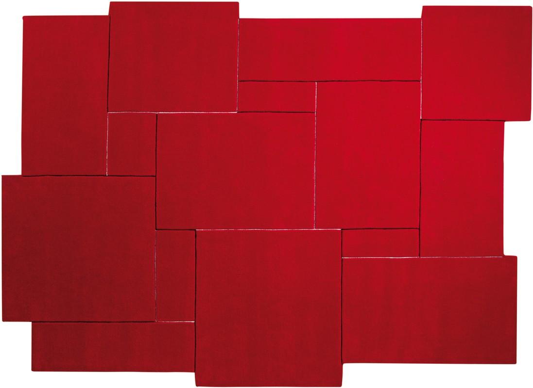 ESPRIT Teppich, Puzzle ESP311904 rot Angebote bei tepgo