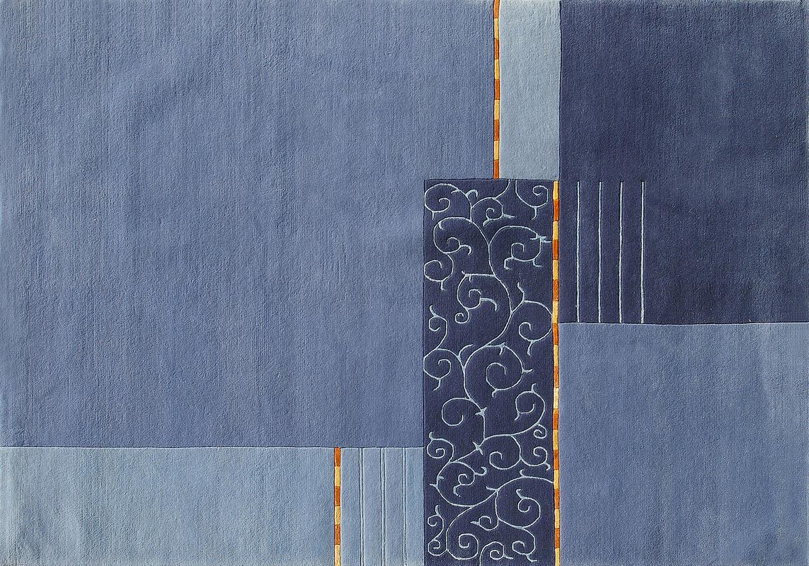 Nepal teppich rund blau das beste aus wohndesign und for Wohndesign blau