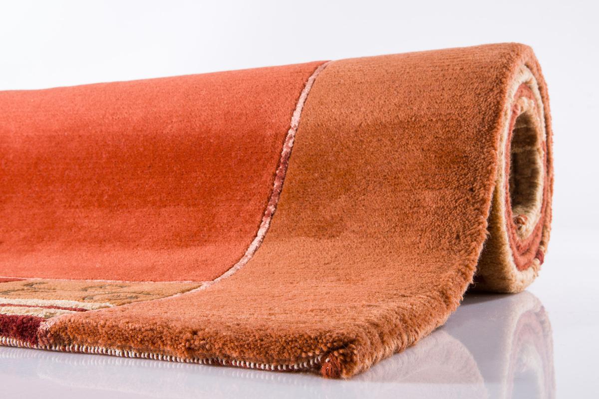 nepal teppich ghorka exclusive 402 kupfer 70 neuseelandwolle 13 mm gesamth he teppich. Black Bedroom Furniture Sets. Home Design Ideas