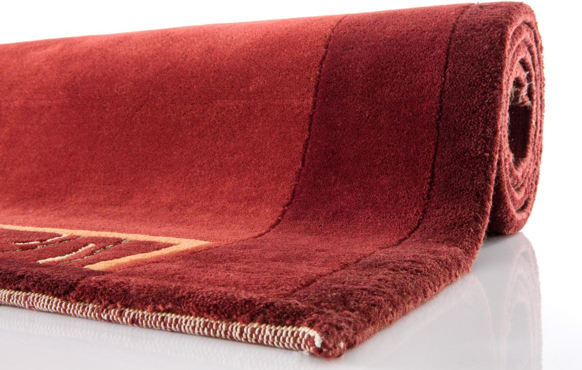 nepal teppich ghorka exclusive kupfer 318 aus reiner schurwolle 10 mm florh he teppich. Black Bedroom Furniture Sets. Home Design Ideas