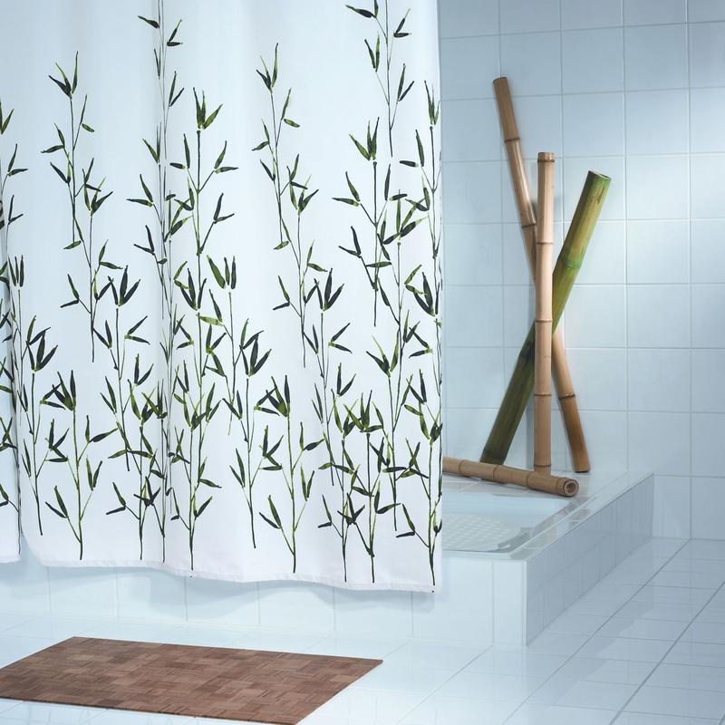 grund duschvorhang bambu weiss gr n badaccessoires duschvorhang bei tepgo kaufen versandkostenfrei. Black Bedroom Furniture Sets. Home Design Ideas