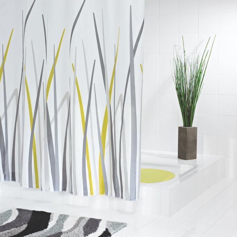grund duschvorhang erba weiss gr n grau badaccessoires duschvorhang bei tepgo kaufen. Black Bedroom Furniture Sets. Home Design Ideas