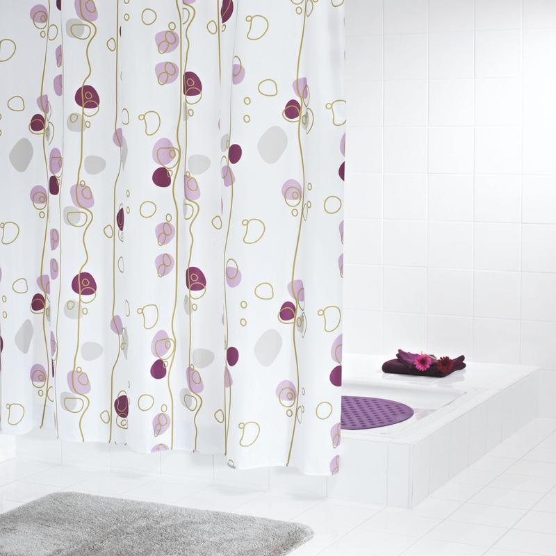 grund duschvorhang stagione weiss lila beere. Black Bedroom Furniture Sets. Home Design Ideas