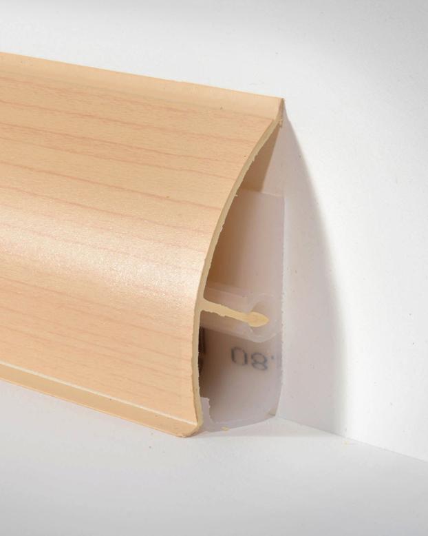 d llken md 63 systemsockelleiste ahorn paketinhalt 2 5 m bodenbel ge profile. Black Bedroom Furniture Sets. Home Design Ideas