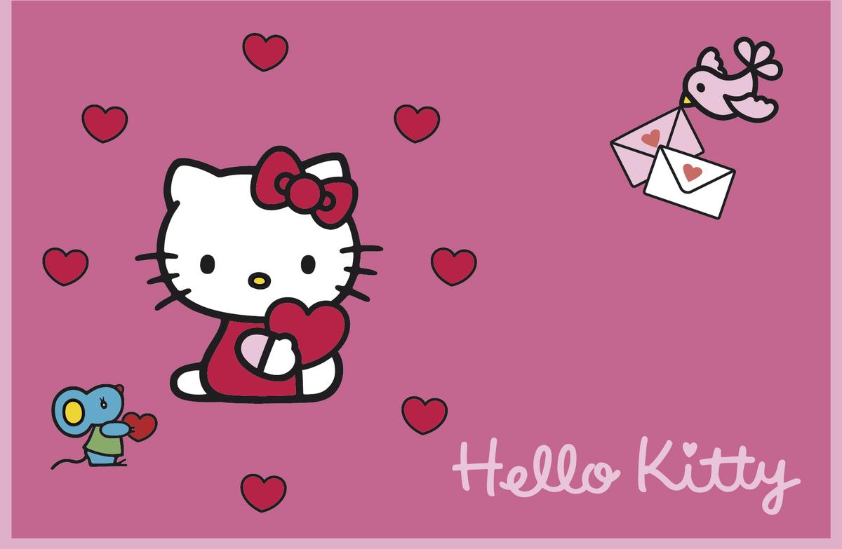 keen joy kinderteppich hello kitty 2 rosa teppich. Black Bedroom Furniture Sets. Home Design Ideas