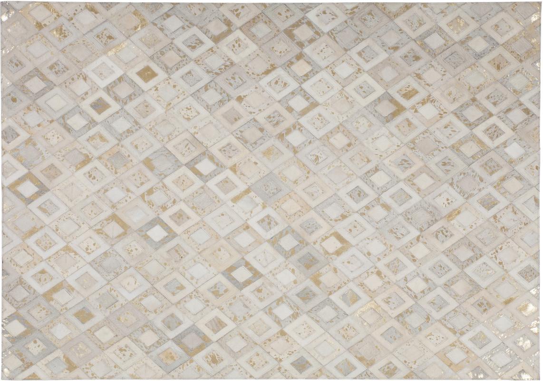 Leder teppich affordable patchwork kuhfell teppich echten leder teppich k multicolor braun with - Linea natura teppich ...