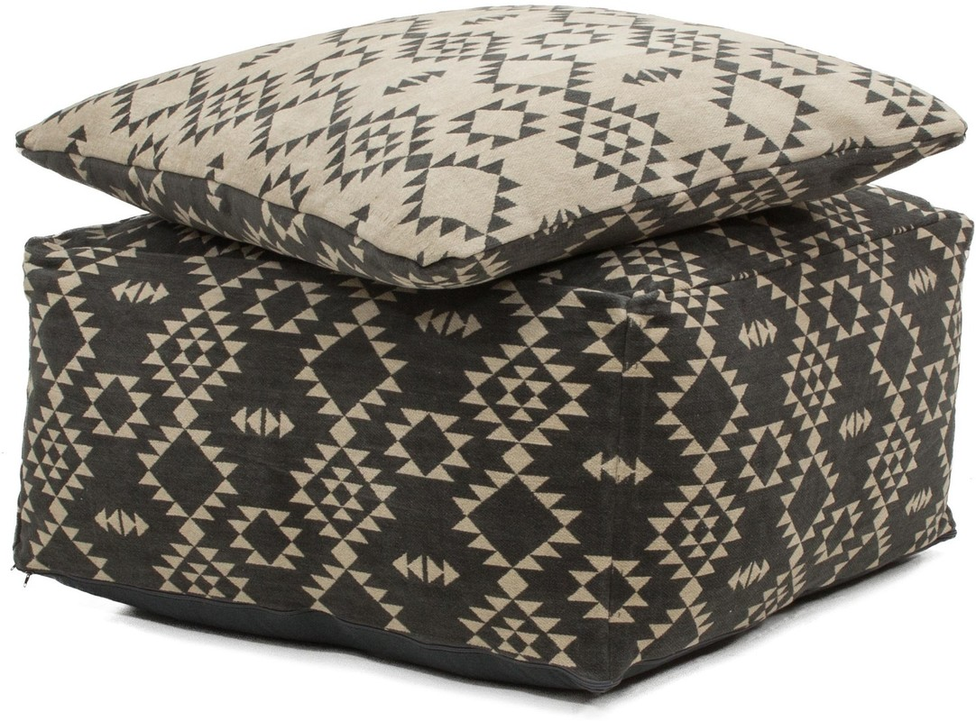 kayoom teppich unwind pouf cushion set 160 anthrazit taupe 80cm x 80cm wohnaccessoires. Black Bedroom Furniture Sets. Home Design Ideas