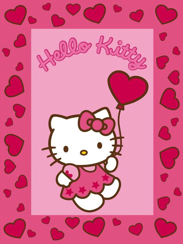 keen joy kinderteppich hello kitty 1 rosa teppich kinderteppich bei tepgo kaufen versandkostenfrei. Black Bedroom Furniture Sets. Home Design Ideas