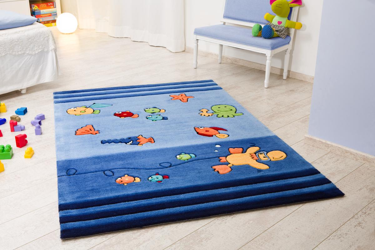 kelii kinder teppich unterwasser blau teppich kinderteppich bei tepgo kaufen versandkostenfrei. Black Bedroom Furniture Sets. Home Design Ideas