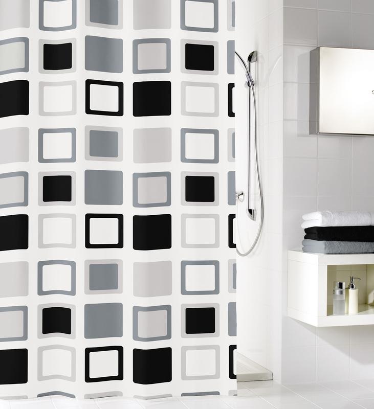 kleine wolke duschvorhang clipper anthrazit 180 x 200 cm breite x h he badaccessoires. Black Bedroom Furniture Sets. Home Design Ideas