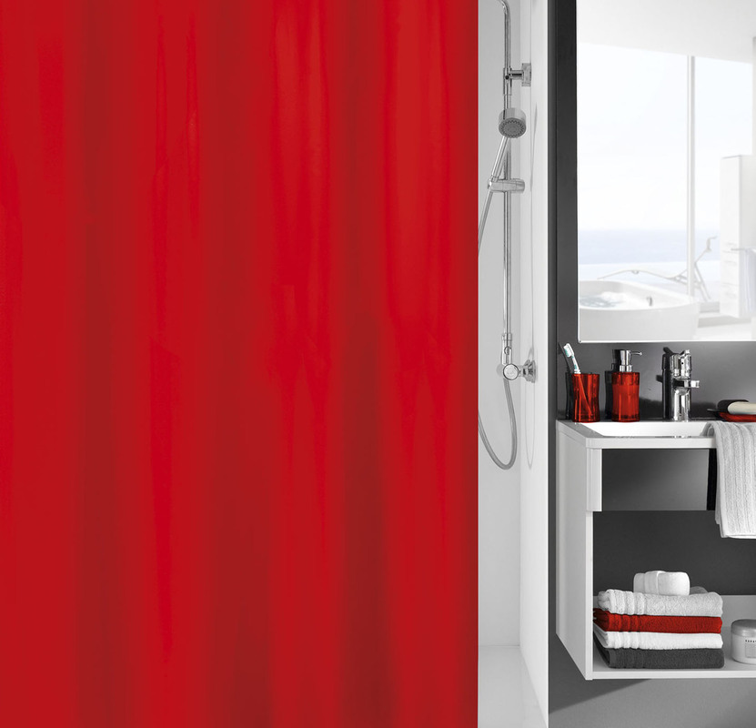kleine wolke duschvorhang kito rot badaccessoires duschvorhang bei tepgo kaufen versandkostenfrei. Black Bedroom Furniture Sets. Home Design Ideas