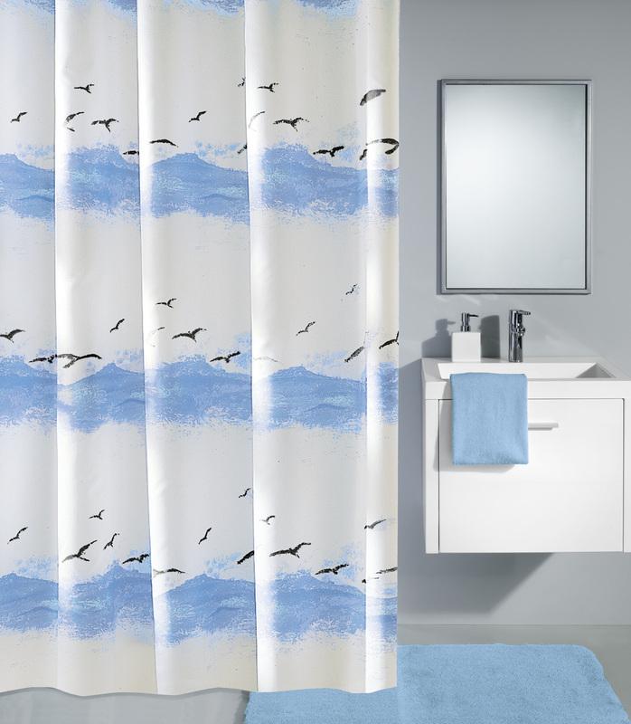 kleine wolke duschvorhang seaside krokusblau badaccessoires duschvorhang bei tepgo kaufen. Black Bedroom Furniture Sets. Home Design Ideas