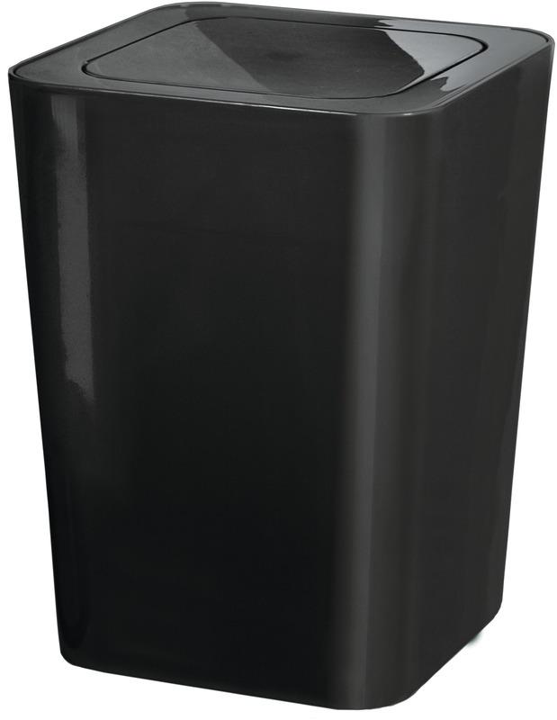 kleine wolke kosmetikeimer james schwarz 5 liter badaccessoires kosmetikabfalleimer bei tepgo. Black Bedroom Furniture Sets. Home Design Ideas