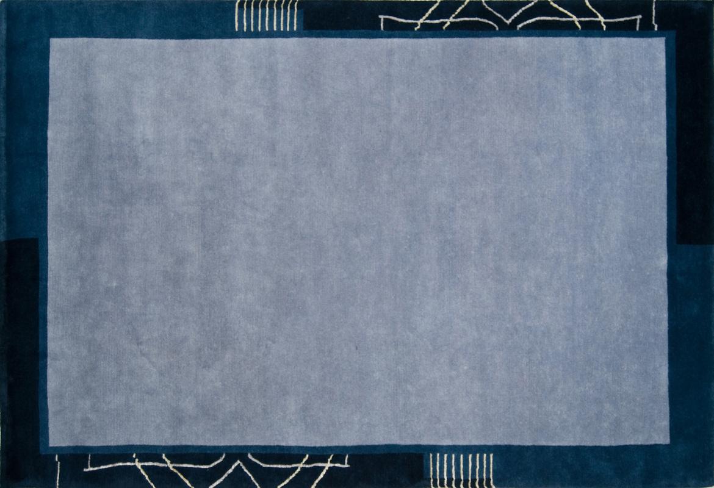 Luxor Living Teppich Bareli blau Teppich Nepalteppich bei