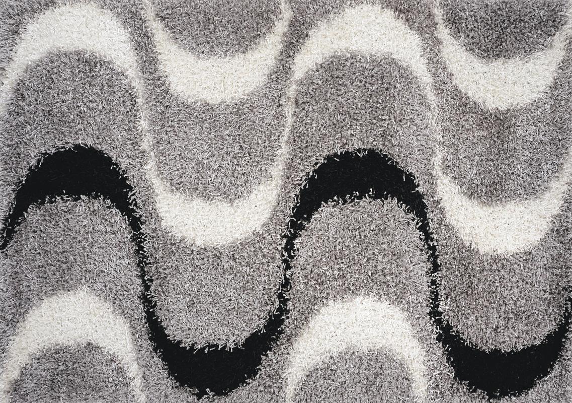 luxor living teppich faenza welle schwarz wei teppich. Black Bedroom Furniture Sets. Home Design Ideas