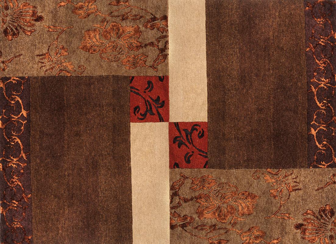 luxor living teppich tingri braun teppich nepalteppich bei tepgo kaufen versandkostenfrei. Black Bedroom Furniture Sets. Home Design Ideas