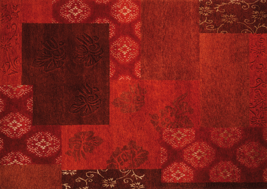 Luxor Living Teppich Tingri rot Teppich Nepalteppich bei
