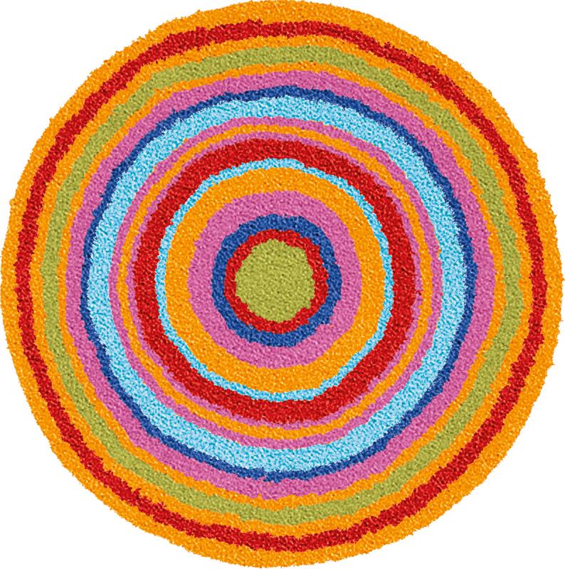 Teppich bunt rund  Meusch Badteppiche rund bei tepgo kaufen. Versandkostenfrei!