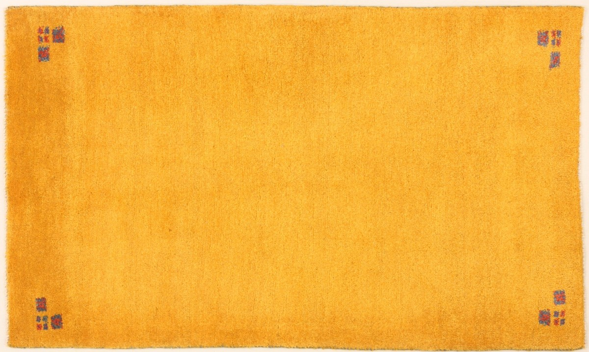 teppich gelb orange wohnzimmer gestaltung
