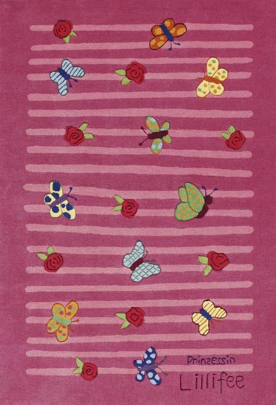Prinzessin Lillifee KinderTeppich Schmetterlinge, ÖkoTex