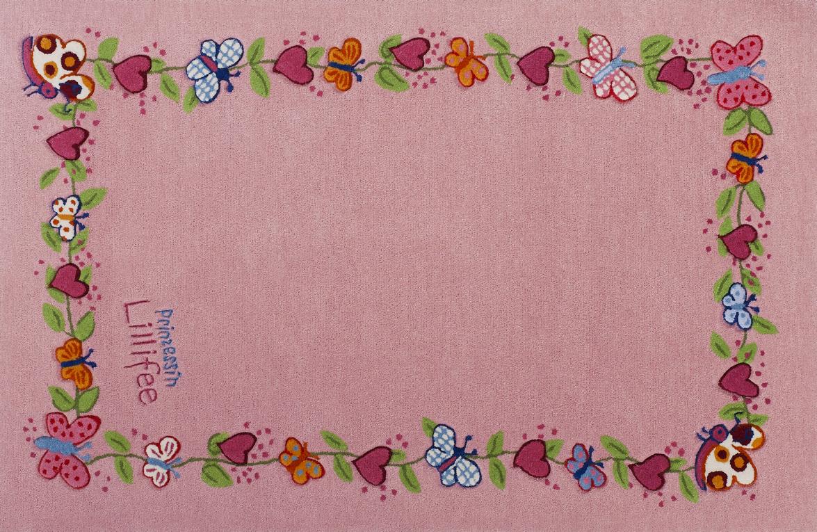 Prinzessin Lillifee KinderTeppich Blumenkranz ÖkoTex