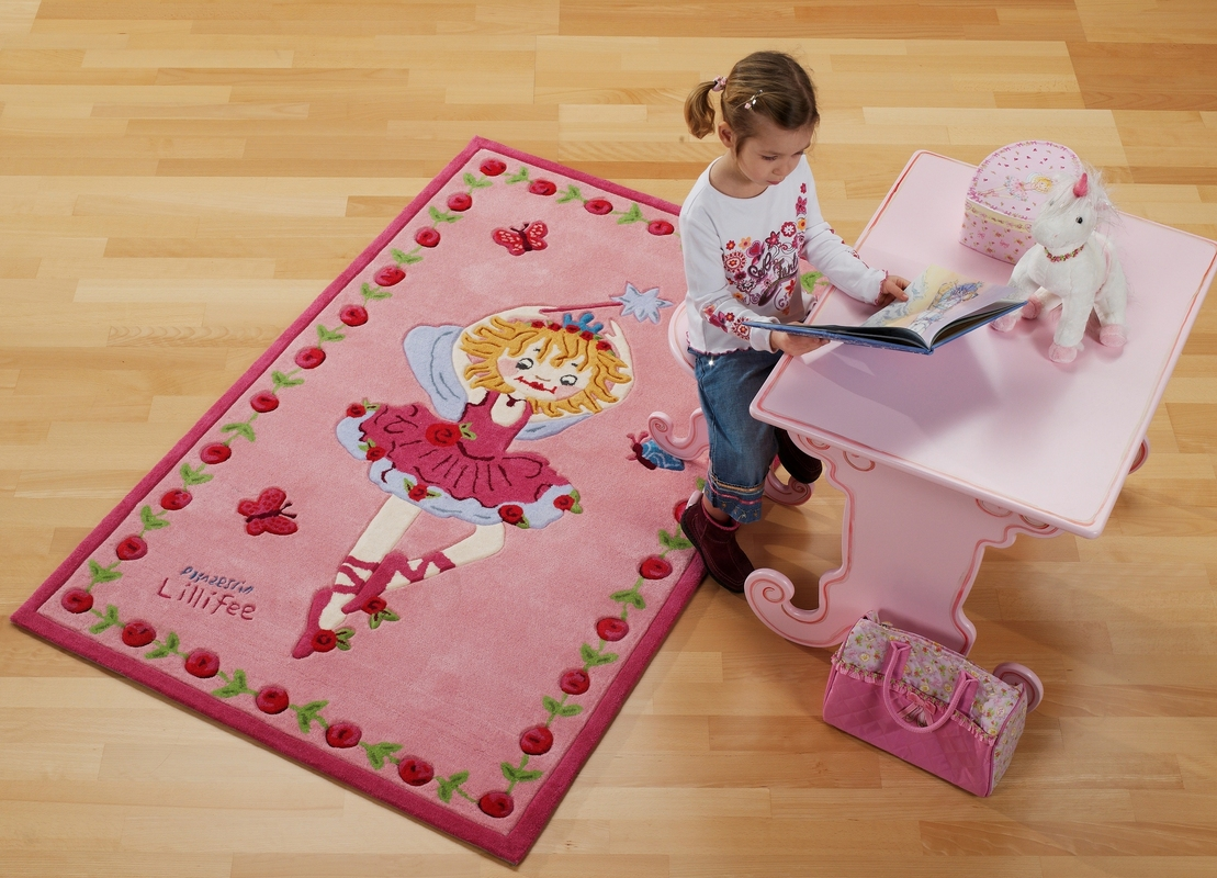 prinzessin lillifee ballett kinder teppich rosa pink schmetterling tiere prinzessin bei tepgo. Black Bedroom Furniture Sets. Home Design Ideas