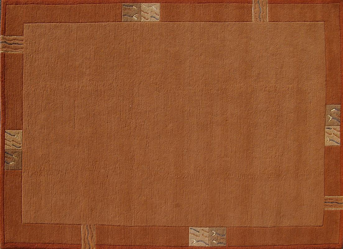 Nepal Teppich, Rama, 322, terra, reine Schurwolle