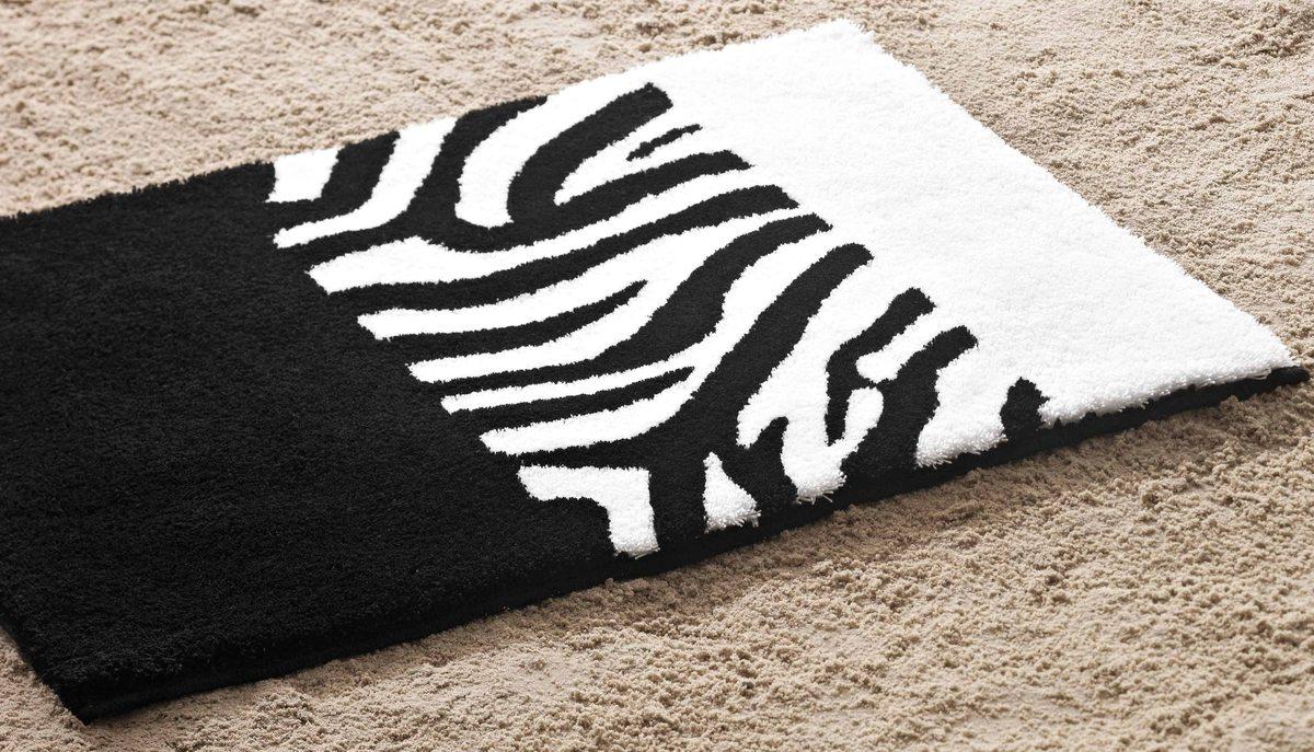 Bilder Rhomtuft Badteppich Zebra Taupe Natur Jasmin Beispielbid