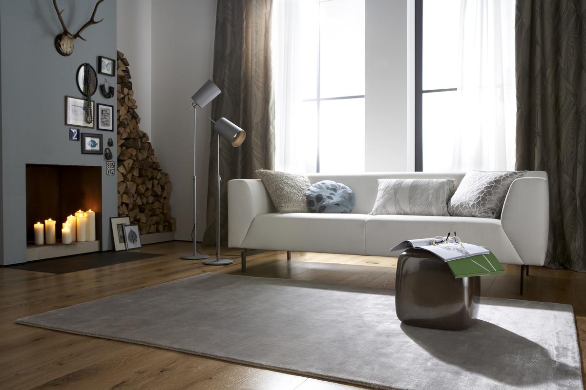bilder sch ner wohnen teppich devi taupe. Black Bedroom Furniture Sets. Home Design Ideas