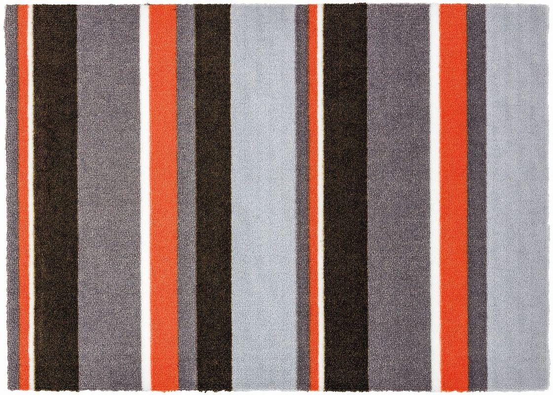 sch ner wohnen fussmatte brooklyn streifen grau orange. Black Bedroom Furniture Sets. Home Design Ideas