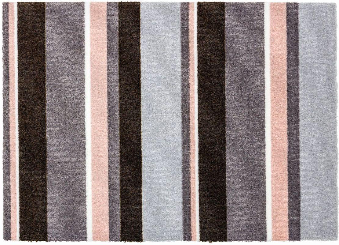 sch ner wohnen fussmatte brooklyn streifen grau rosa. Black Bedroom Furniture Sets. Home Design Ideas