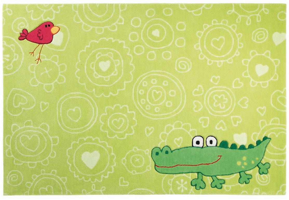 Kinderteppich sigikid  Sigikid Kinder-Teppich, Happy Zoo, Crocodile SK-3341 grün Teppich ...