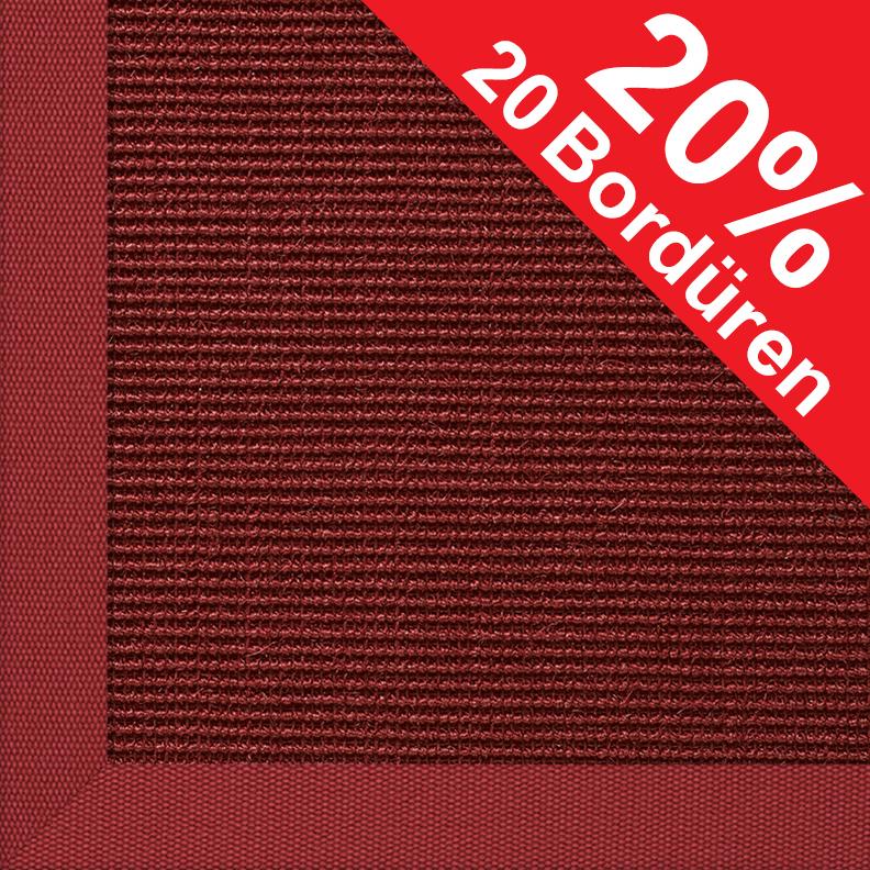 ilima Sisalteppich, Agave Deluxe, rot Teppich Sisalteppich