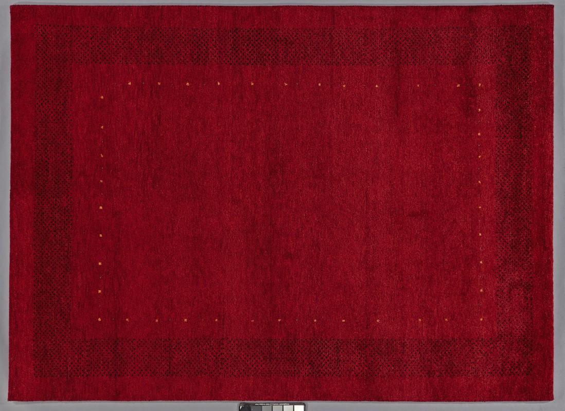 tadj gabbeh teppich 2900 rot handgekn pft mit argentinischer schurwolle klassischer teppich. Black Bedroom Furniture Sets. Home Design Ideas