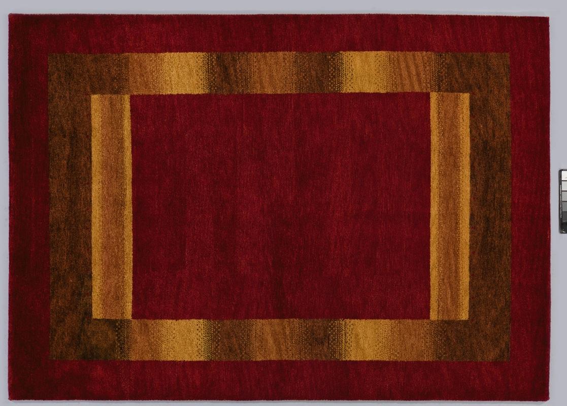 tadj gabbeh teppich 2922 rot handgekn pft mit argentinischer schurwolle klassischer teppich. Black Bedroom Furniture Sets. Home Design Ideas