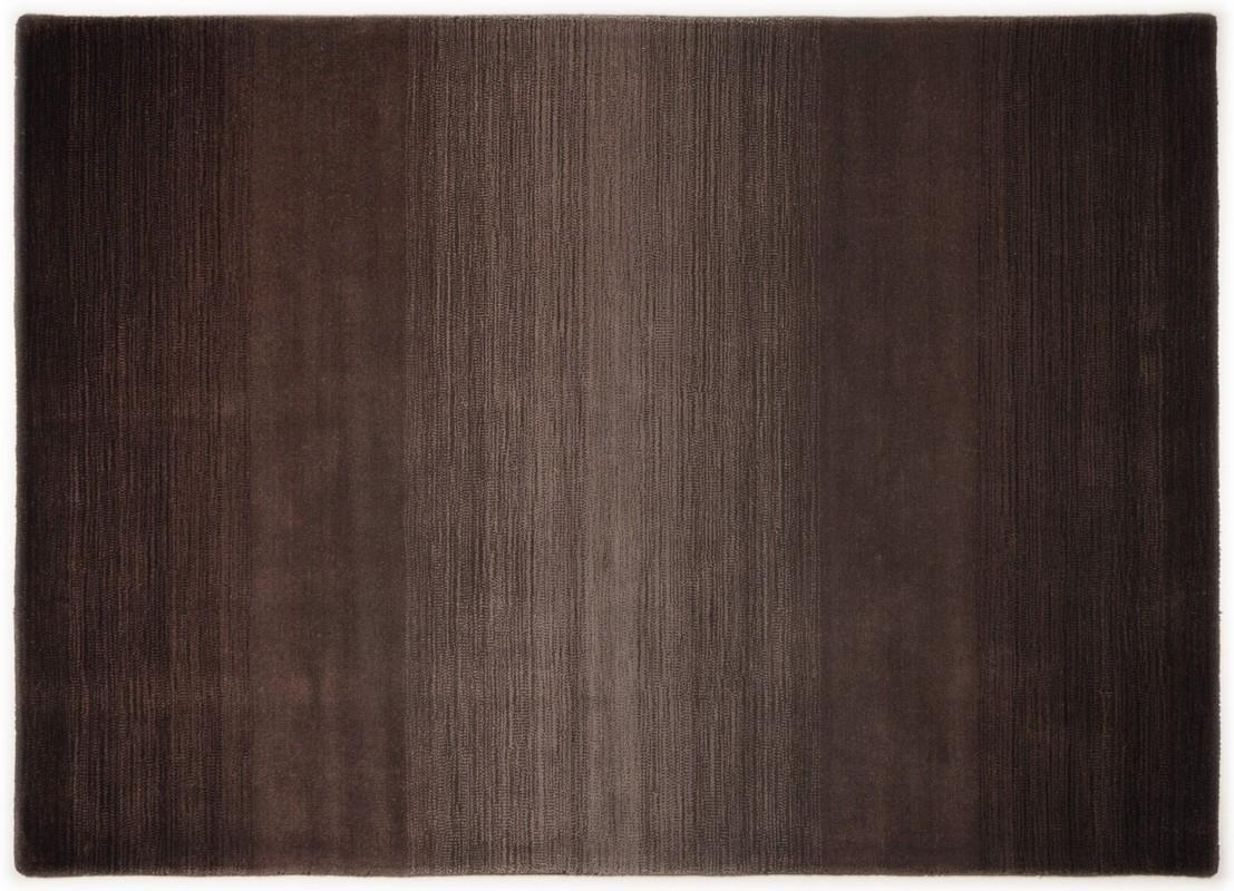 THEKO Teppich Wool Comfort, Ombre, choco  Designerteppich