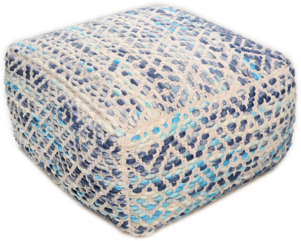 Tom Tailor Pouf Smooth Comfort Diamond, blue