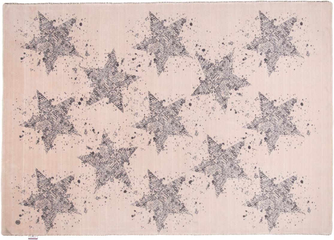 Tom Tailor Teppich Happy, Stars, beige  Designerteppich